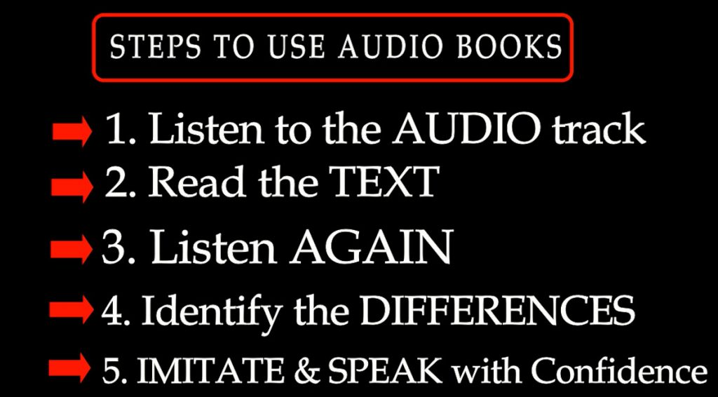 Steps to use audio books